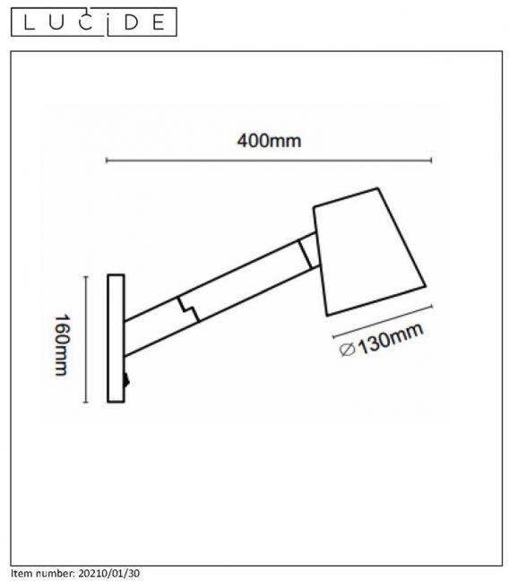 Sieninis šviestuvas MIZUKO 20210/01/30