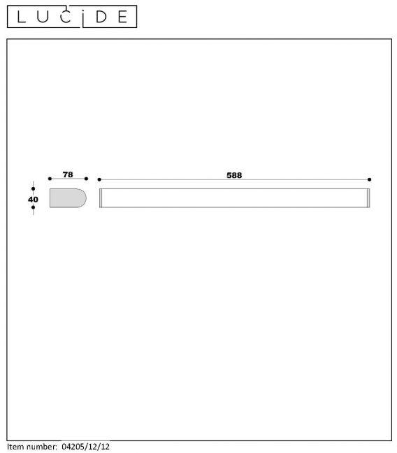 Sieninis šviestuvas JASPER LED 60 12W 04205/12/12 IP44