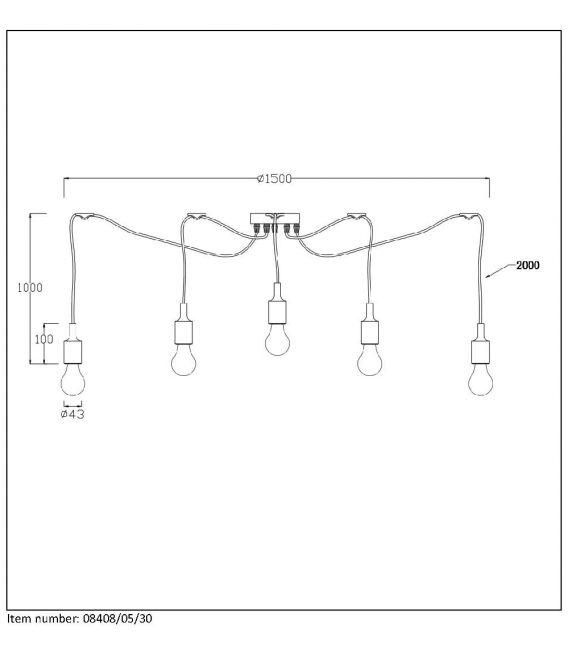 Pakabinamas šviestuvas FIX MULTI 08408/05/30