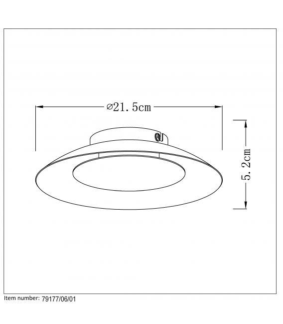 Lubinis šviestuvas FOSKAL LED Ø21,5 Brass 79177/06/01