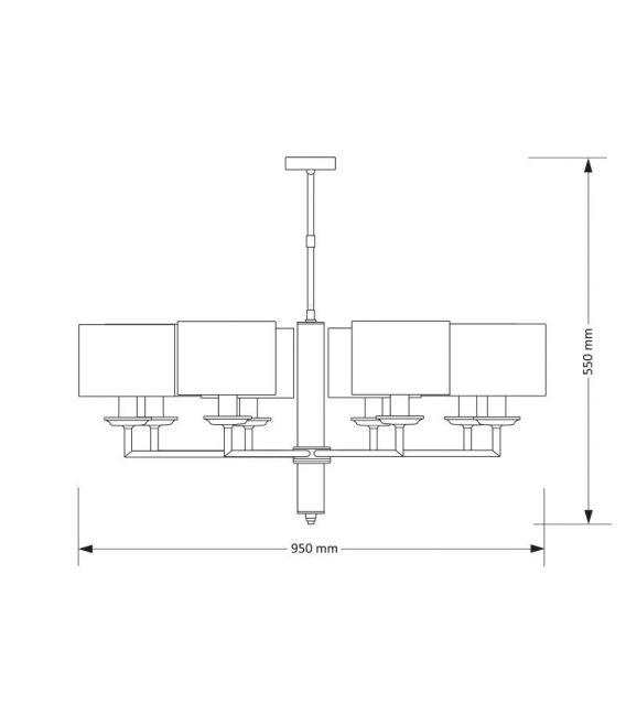 Pakabinamas šviestuvas MODESTO Silver MOD-ZW-8 (CC)