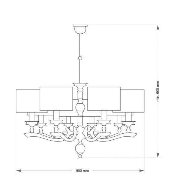 Pakabinamas šviestuvas TIVOLI Nickel TIV-ZW-6(N)