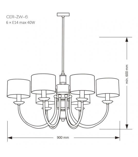 Pakabinamas šviestuvas CERO Gold CER-ZW-6(Z)