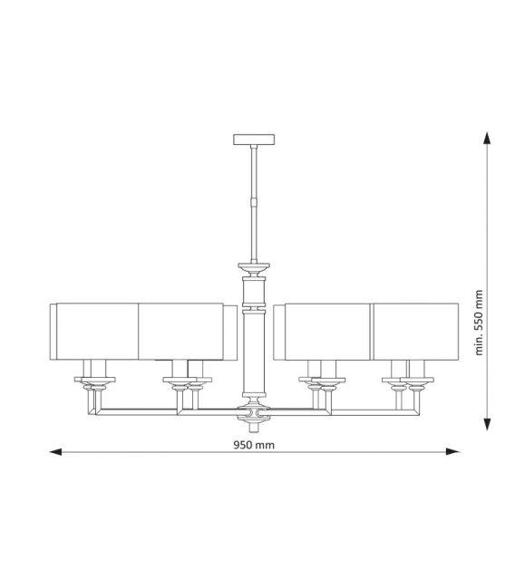 Pakabinamas šviestuvas ARTU Nickel ART-ZW-8(N)