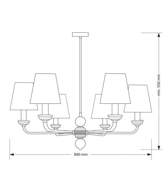 Pakabinamas šviestuvas ABANO Gold ABA-ZW-6(Z/A)