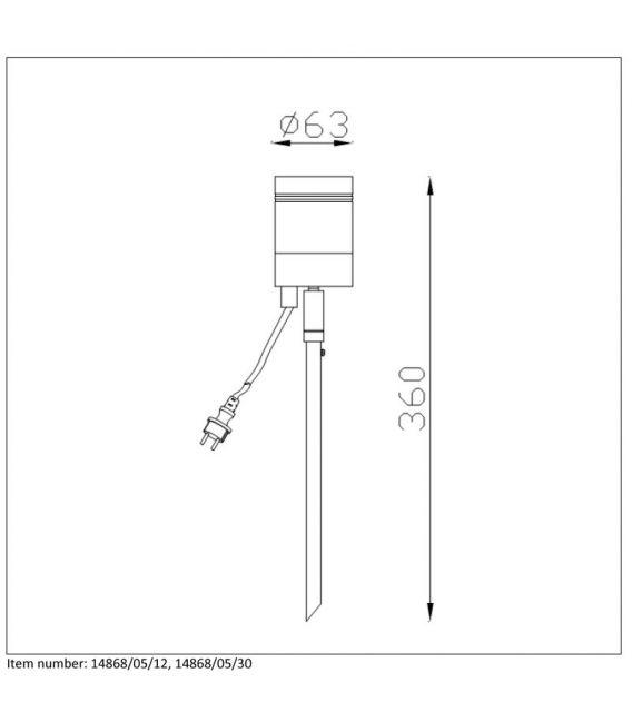 Įsmeigiamas šviestuvas ARNE-LED Satin Chrome IP44 14868/05/12