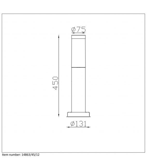 Pastatomas šviestuvas KIBO IP44 14863/45/12