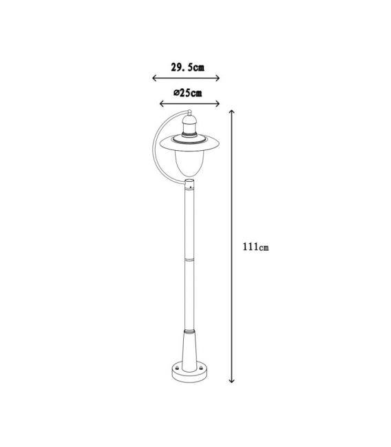 Pastatomas šviestuvas ARUBA 110 IP44 11873/01/30