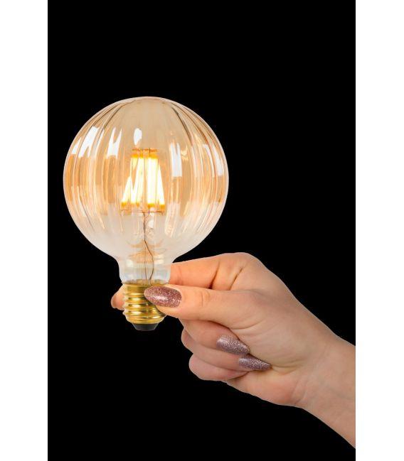 LED LEMPA 6W E27 Amber Ø9.5 80104/06/62