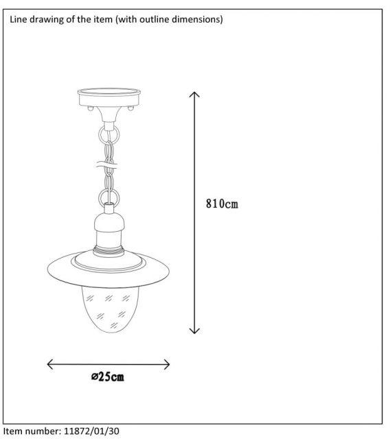 Pakabinamas šviestuvas ARUBA IP44 11872/01/30