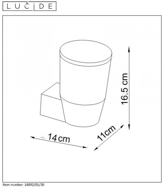 Sieninis šviestuvas NINKE IP54 14892/01/30