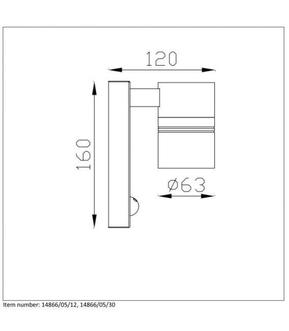 Sieninis šviestuvas ARNE-LED I.R. IP44 14866/05/12