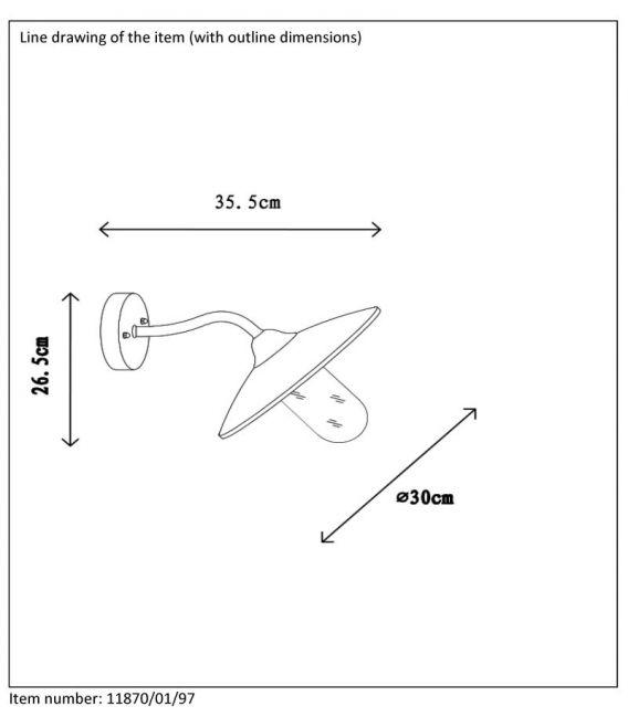 Sieninis šviestuvas ARUBA IP44 11870/01/97