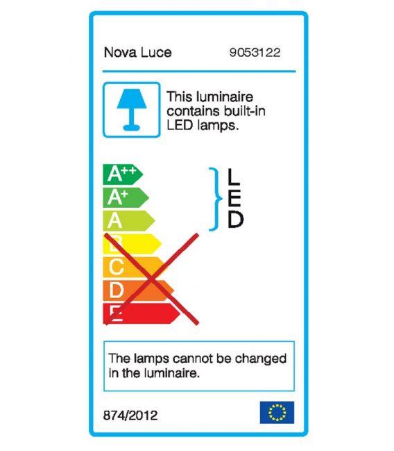 12W LED Sieninis šviestuvas MONDRIAN Black IP44 9053122