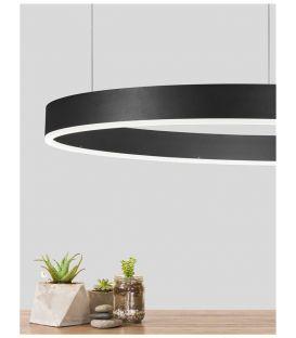 48W LED Pakabinamas šviestuvas MOTIF Black Ø80 9190848
