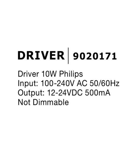 Transformatorius DRIVER 10W 12-24V 9020171