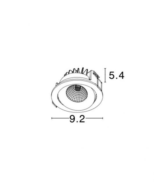 Įmontuojamas šviestuvas LAZIO IP54 8000503