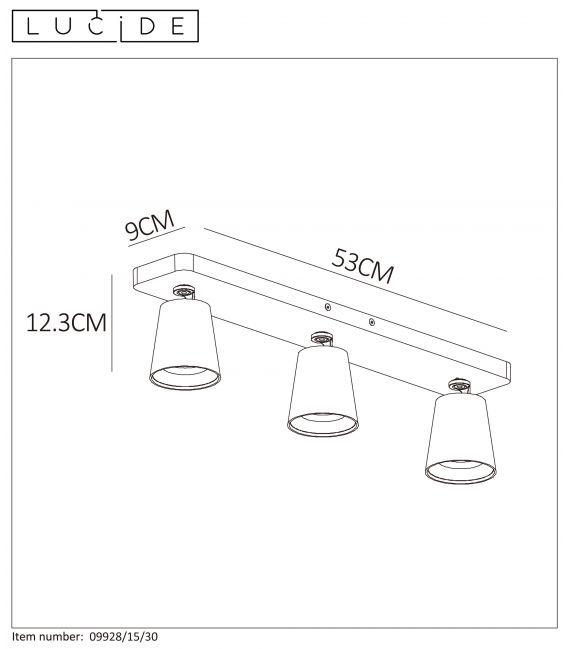 Lubinis šviestuvas TURNON Dimeriuojamas 09928/15/30