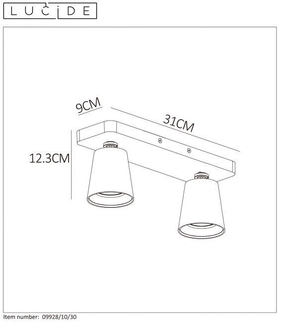 Lubinis šviestuvas TURNON Dimeriuojamas 09928/10/30