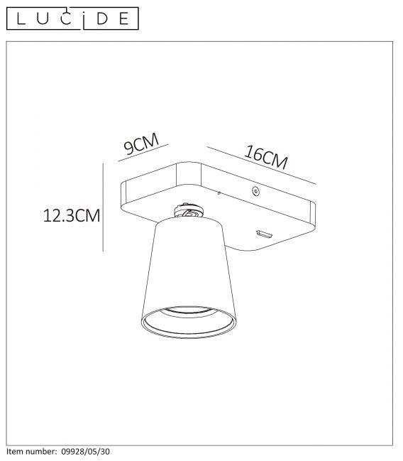 Sieninis šviestuvas TURNON Dimeriuojamas 09928/05/30