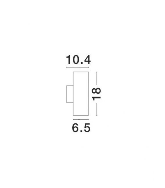 Sieninis šviestuvas NODUS Brown IP54 773224