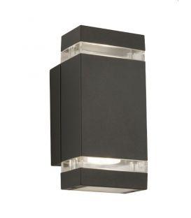 Sieninis šviestuvas OUTDOOR IP44 1002-2GY-LED
