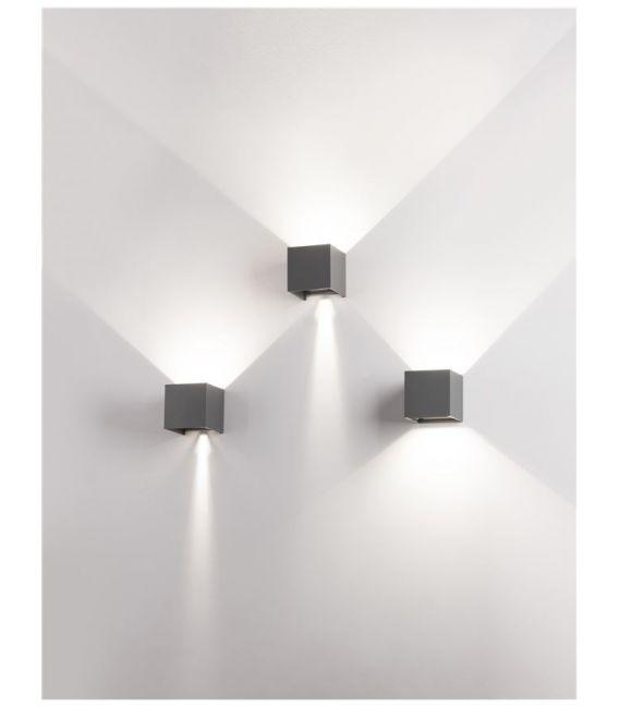 6W LED Sieninis šviestuvas COMO Gray IP54 847407