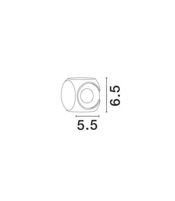 4W LED Sieninis šviestuvas ZARI White IP54 9226217