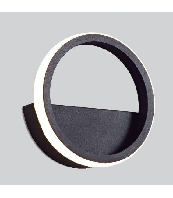 8W LED Sieninis šviestuvas KITESURF Black 7144