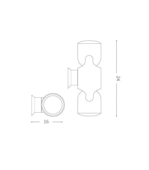 Sieninis šviestuvas XENO AP2 Brown IP44 213385