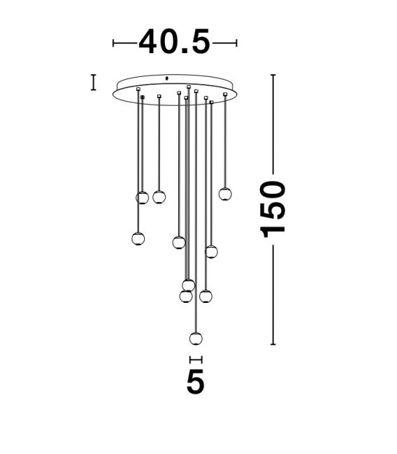 45 W LED Pakabinamas šviestuvas NOCCI 9303952