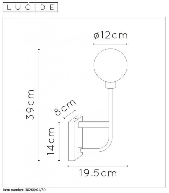 Sieninis šviestuvas BEREND IP44 30266/01/30