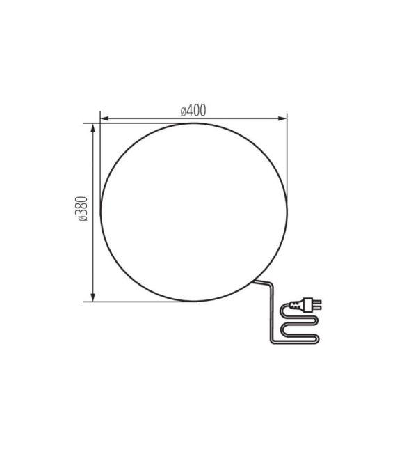 Pastatomas šviestuvas STONO 40 IP65 24652
