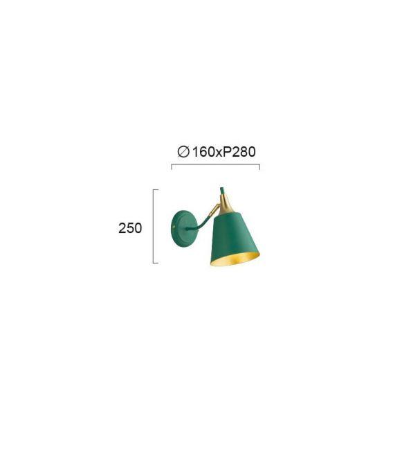 Sieninis šviestuvas MENTA Green 4241600
