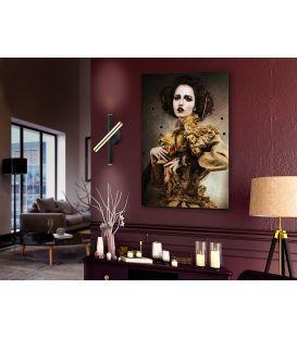 15W LED Sieninis šviestuvas VARAS Black/Gold 373845
