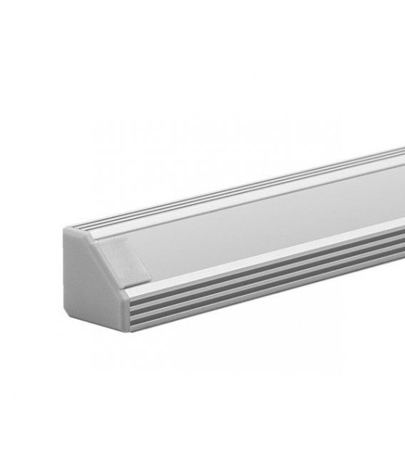 LED profilis 45-ALU kampinis 2 metrai B4023ANODA2