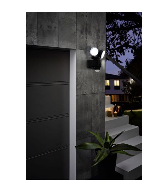 7.5W LED Šviestuvas su judesio davikliu CASABAS Black IP44 98189