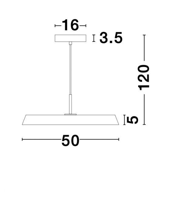 41W LED Pakabinamas šviestuvas VETRO Black 910622