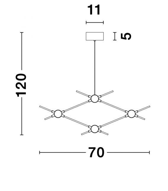 9.6W LED Pakabinamas šviestuvas ATOMO 9180674