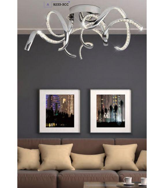 38W LED Lubinis šviestuvas TWIRLS 9233-3CC