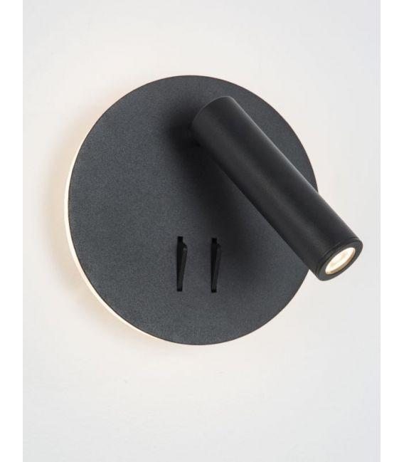 9W LED Sieninis šviestuvas PENOR Black 9081222