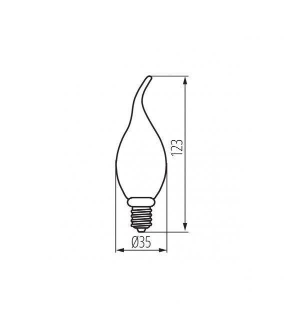 LED LEMPA 2.5W E14 XLED C35T 29641