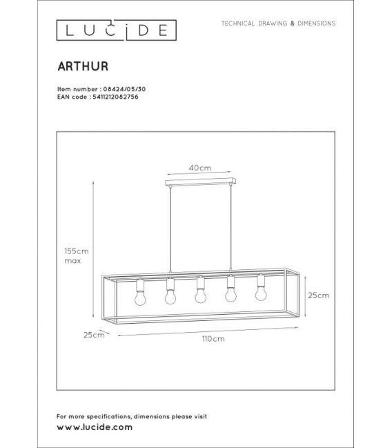 Pakabinamas šviestuvas ARTHUR 5 08424/05/30