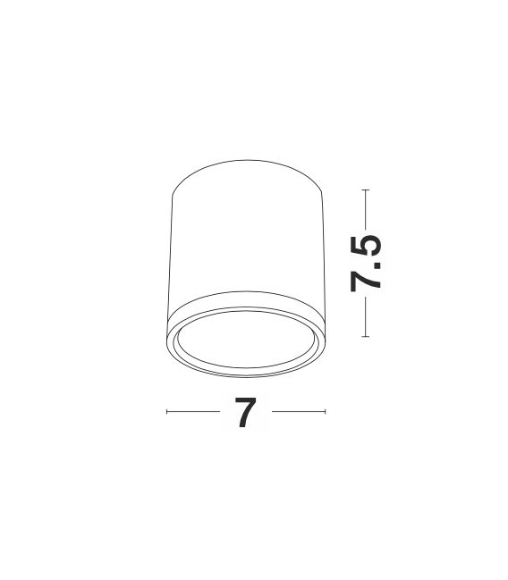 7W LED Lubinis šviestuvas GARF White 9388902