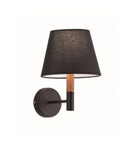 Sieninis šviestuvas VILLY Black 4167901