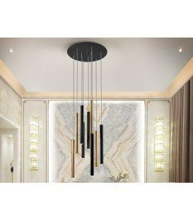 45W LED Pakabinamas šviestuvas VARAS Black/Gold 373272