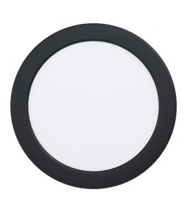 10.5W LED Įmontuojama panelė FUEVA Black Ø16.6 3000K 99144
