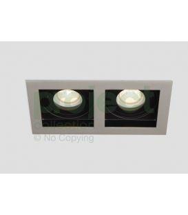 Įmontuojamas šviestuvas GRID 2 Silver/Black DL-GRID2SB