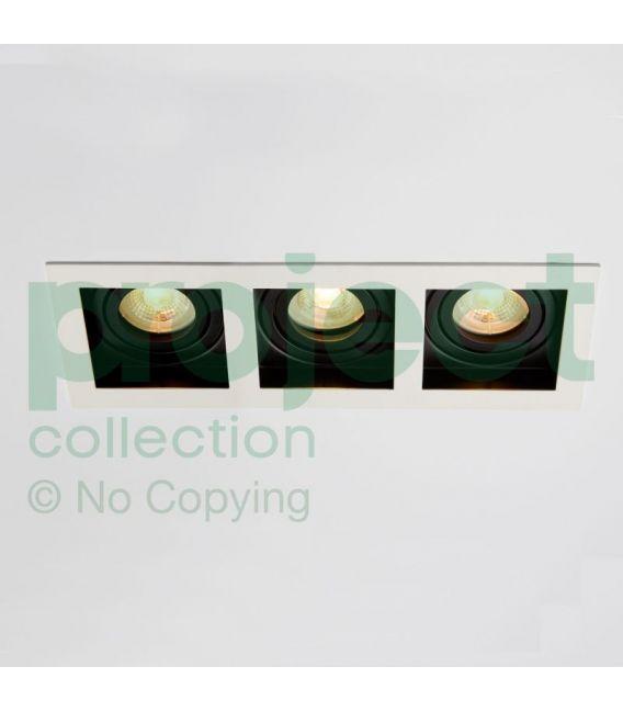 Įmontuojamas šviestuvas GRID 3 White/Black DL-GRID3WB