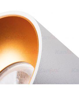 Įmontuojamas šviestuvas MINI RITI White/Gold Ø8.5 27576